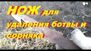 Нож для удаления ботвы с фрезы мотоблока. Жизнь в деревне. Living in Russia.