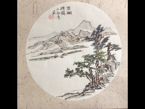 Chinese Ink Wash Painting Original Handmade Painting on Rice (Xuan) Paper with music (29)