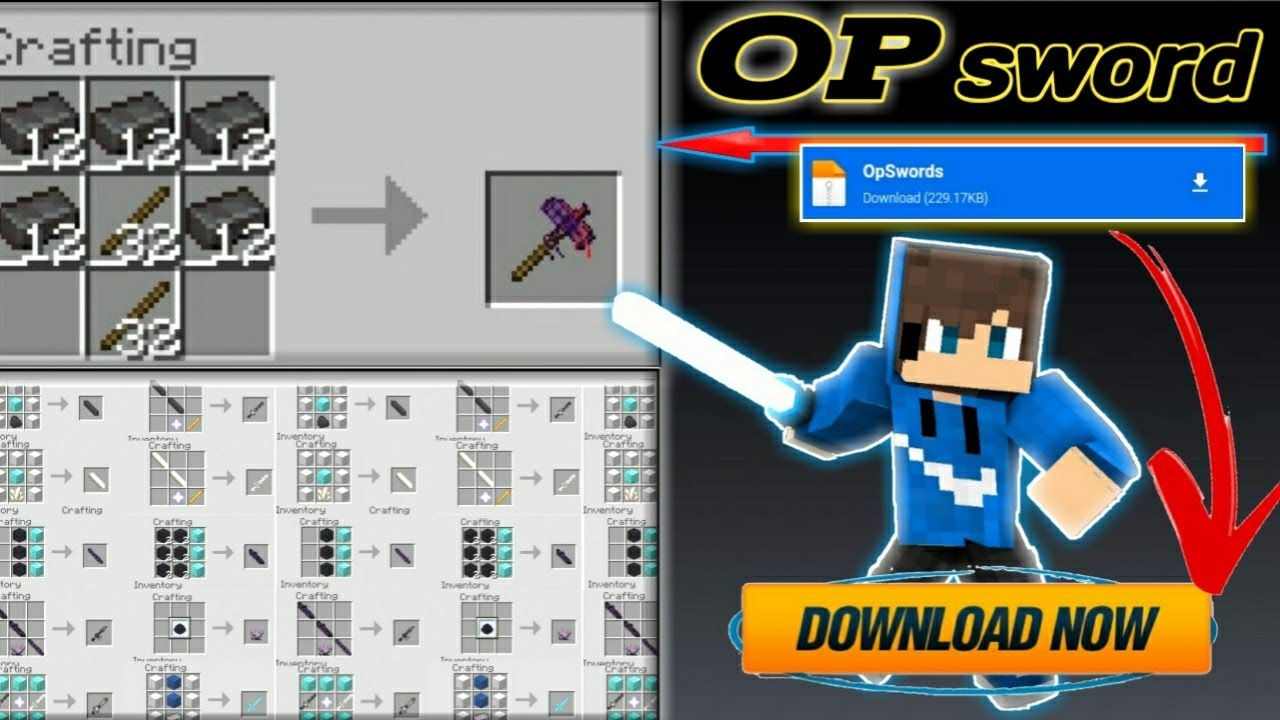 Download How to download OP swords mod in minecraft pe ! MEDIAFIRE ! 【UNIVERSE GAMER】