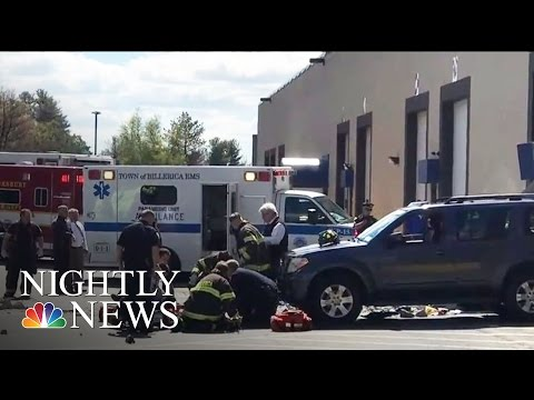 3 Killed, Several Injured As Vehicle Plows Into Crowd At Car Auction | NBC Nightly News