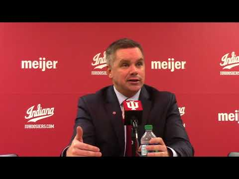 Chris Holtmann reacts to win at Indiana