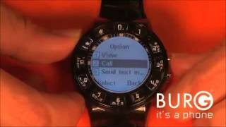Phone Watch- Making A Call With The Burg Watch Phone