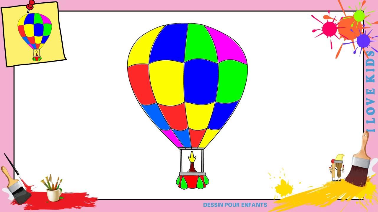 Dessin Montgolfiere Comment Dessiner Une Montgolfiere Facilement Pour Enfants Youtube