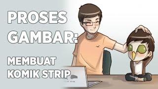 Proses Gambar: Membuat Komik Strip dari Sketsa sampai Warna