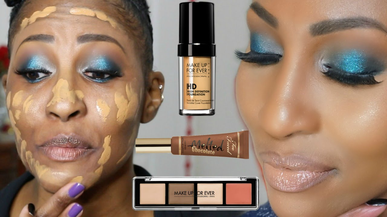 GRWM U0026quot;Chit Chatu0026quot; Makeup Forever Pro Sculpting Palette Too Faced Melted Chocolate + More - YouTube