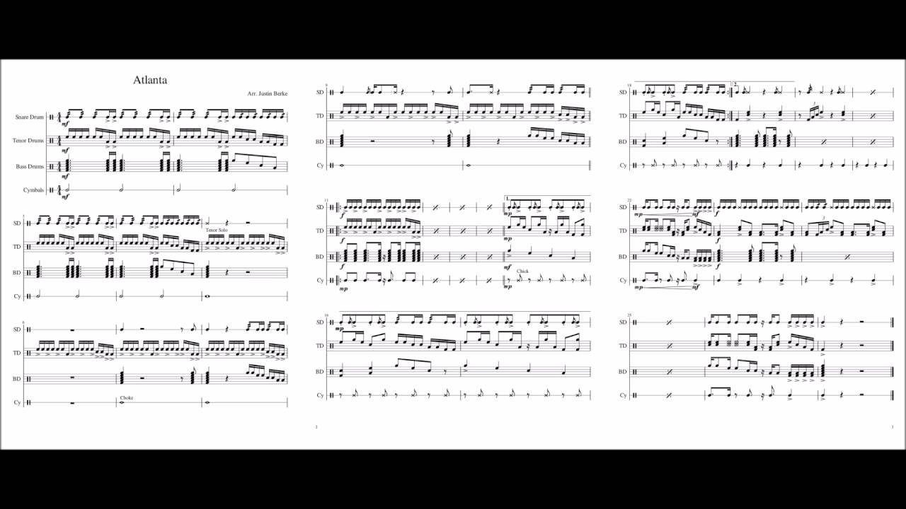 atlanta drumline cadence youtube