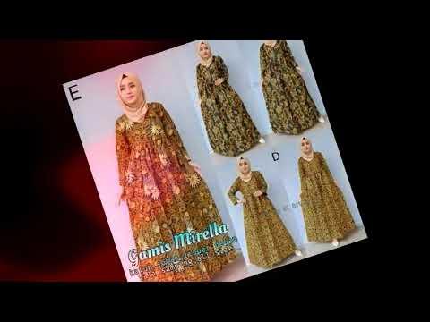 ッ 25 Model Gamis Batik Kombinasi Polos Modern Galeri Batik Terbaru