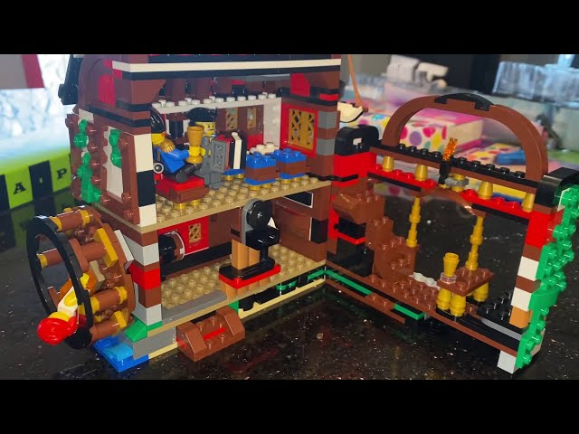 Kid Playing with LEGO Creator Pirate Ship Set 31109, Pirate's Inn