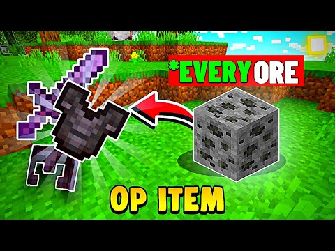 Download *EVERY ORE* Drop OP Itmes Finally Released For Minecraft PE Super Ore Mod for Mcpe