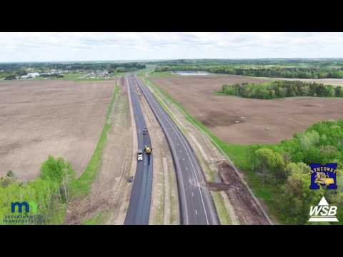 Hwy 371 Nisswa, Pequot Lakes, Jenkins fly over | May 2017