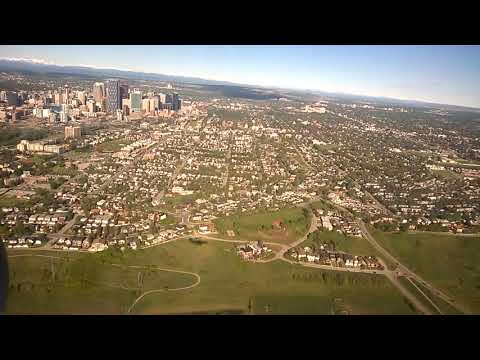 Landing at Calgary Airport (YYC)
