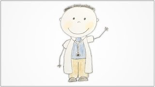 How to draw Community Helpers - Doctor for kids
