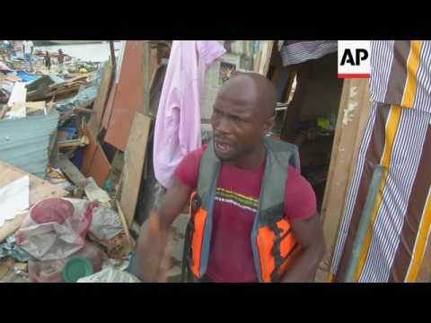 Forces use gunfire to clear Lagos shantytown
