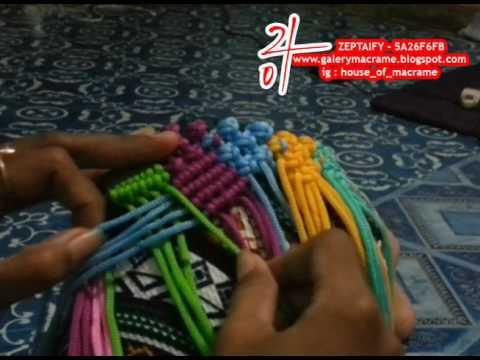 Tutorial membuat tas tali kur motif Pagar