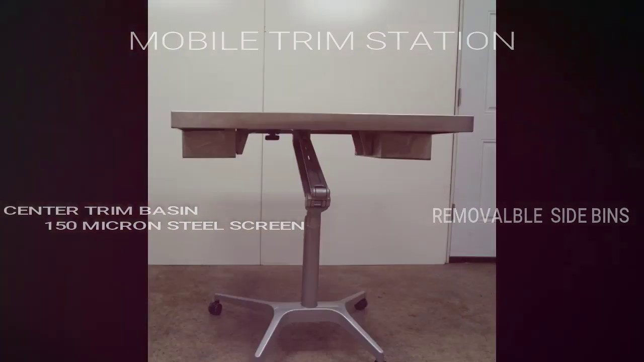 Adjustable Trim Table and Harvest Cart