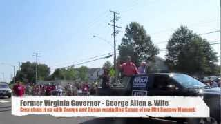 Greg's Quick Leesburg Parade Interview with Senate Candidate: George Allen (R) July 4, 2012