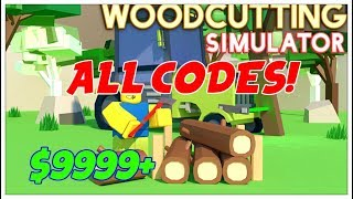 WOODCUTTING SIMULATOR  ALL ACTIVE CODES! - Roblox