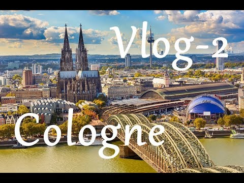 Cologne - Bonn City Tour -  Kicik Qəzinti - Central Train Station - City Centrum - Germany - VLOG -2