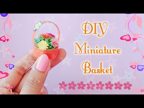 DIY miniature Basket || How to make Basket with bottel cap || Doll accessories