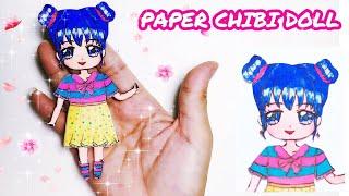Hướng dẫn làm BÚP BÊ chibi bằng giấy - How to make a paper chibi doll
