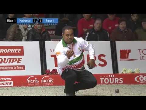 Trophée l'Équipe doublette hommes 2ème tour France vs Madagascar