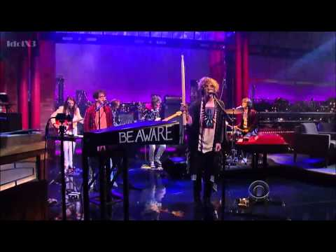 Gallagher Staging - MGMT on David Letterman