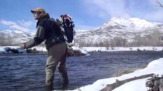 Winter Provo snowshoe and flyfishing thumbnail