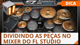 Video Aula Divindo o EZ Drummer no mixer FL Studio