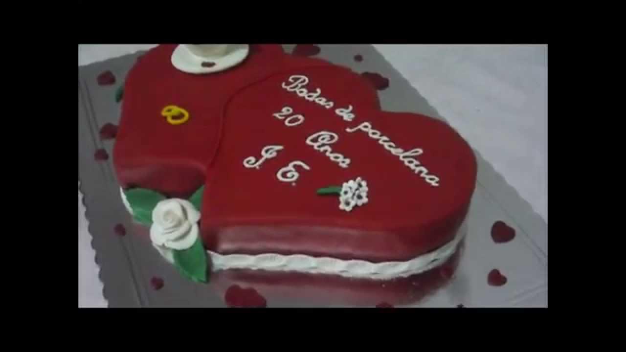 Bolo De Aniversário: Bolo De Aniversário De Casamento- Bodas De Porcelana