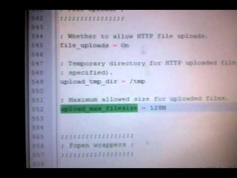 Как увеличить максимальный размер импорта файла Mysql