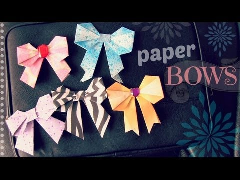 DIY ORIGAMI PAPER BOW for your Locker - Back To School How To | SoCraftastic