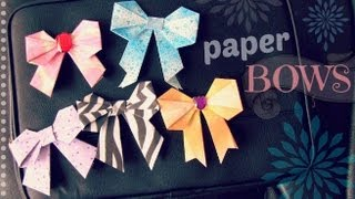 Diy: Paper Bow - Scrapbooking / Origami / Locker Decor