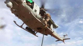 Marines Helicopter Fast Rope Training