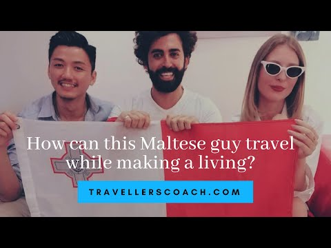 How can this Maltese guy travel while making a living