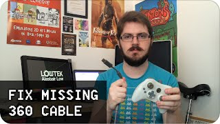 Fix xbox 360 controller Missing USB cable