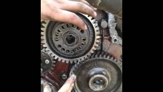 Выставляем зажигание по меткам двигатель а-41