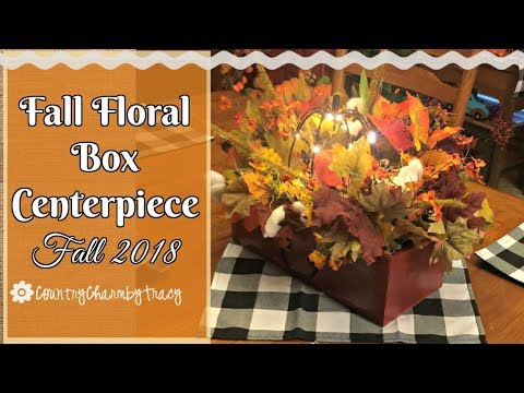 Fall Floral Box Centerpiece || Dollar Store DIY || Quick and Easy