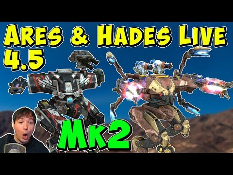 Mk2 Maxed ARES HADES & NEMESIS Gameplay - War Robots 45  WR