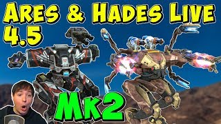 Mk2 Maxed ARES, HADES & NEMESIS Gameplay - War Robots 4.5 Live WR