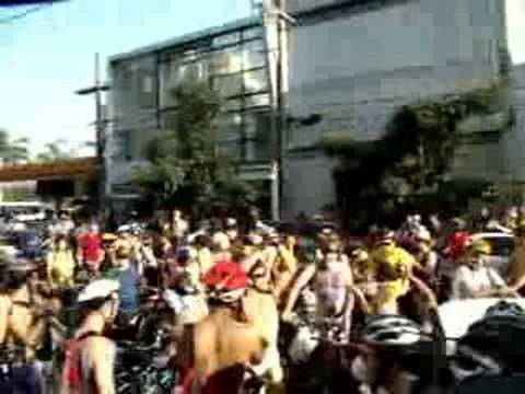 World Naked Bike Ride 2008 - São Paulo