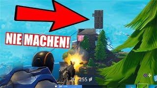 Das solltest du NIEMALS in FORTNITE MACHEN...!! (Fortnite Battle Royale Sieg Gameplay Deutsch)
