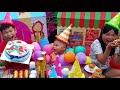 Trò Chơi Tổ Chức Sinh Nhật Bé ❤ ChiChi Kids TV ❤  Đồ Chơi Trẻ Em Bánh kem Siêu Nhân