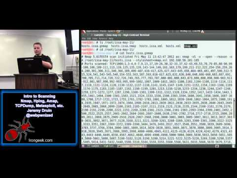 Intro to Scanning: Nmap, Hping, Amap, TCPDump, Metasploit, etc