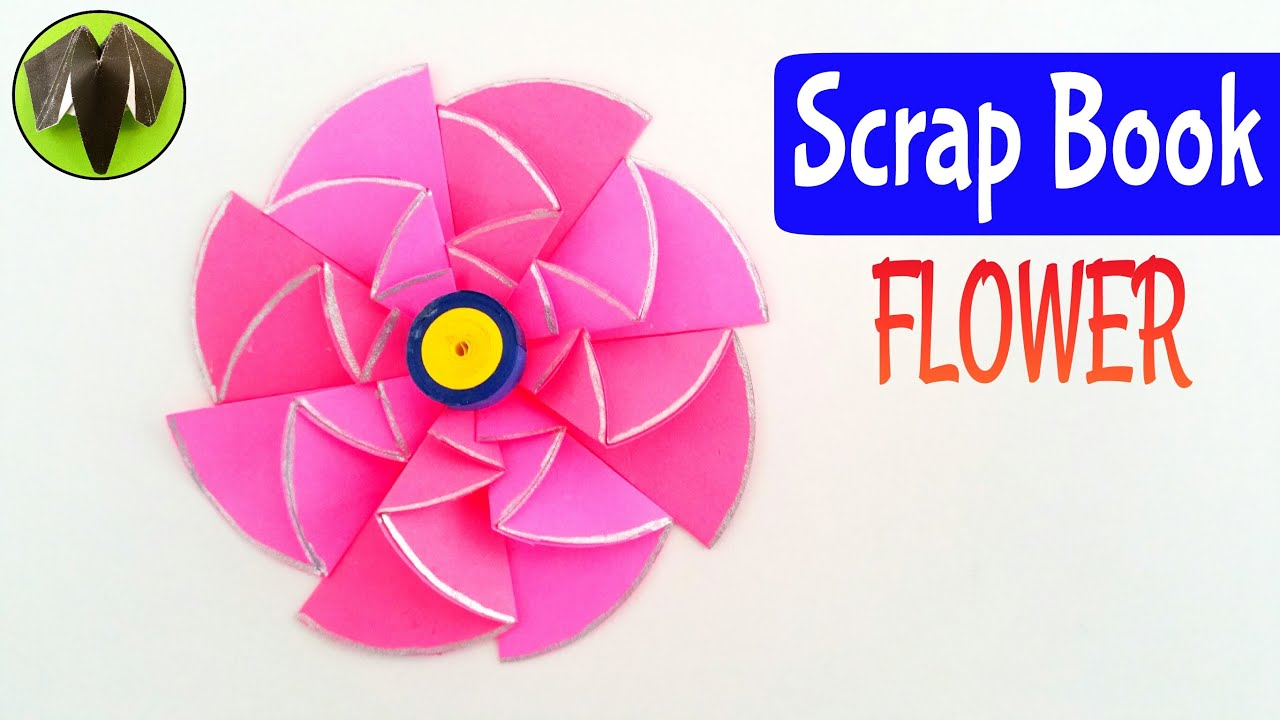 Scrapbook flower diwali christmas decorations diy tutorial by scrapbook flower diwali christmas decorations diy tutorial by paper folds mightylinksfo