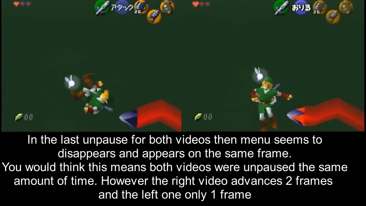 OOT- Pause buffering varies? (please someone tell me i'm wrong) [practice  rom]