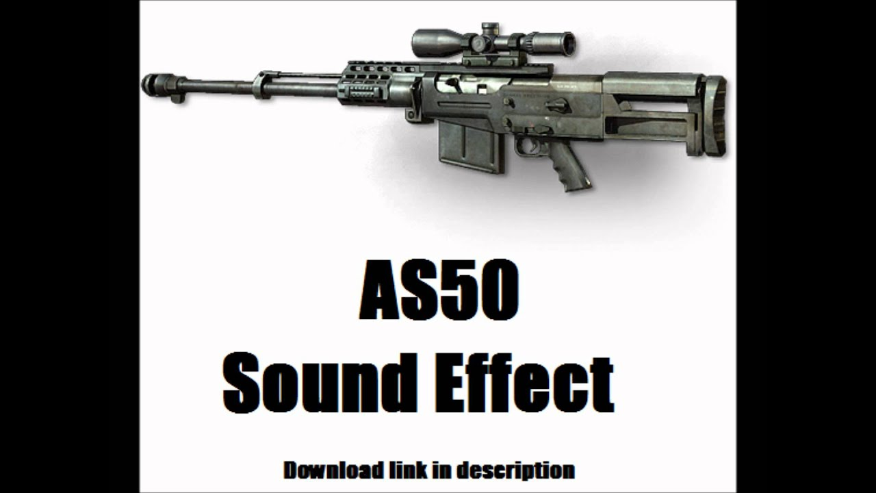 MW3 Sniper Sound Effect: AS50 (Download link in description)
