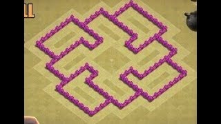 Clash of Clans Town Hall 6 Defense (CoC TH6) BEST Hybrid Base Layout Defense Strategy 2017