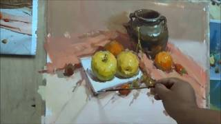 Still Life Painting in Gouache