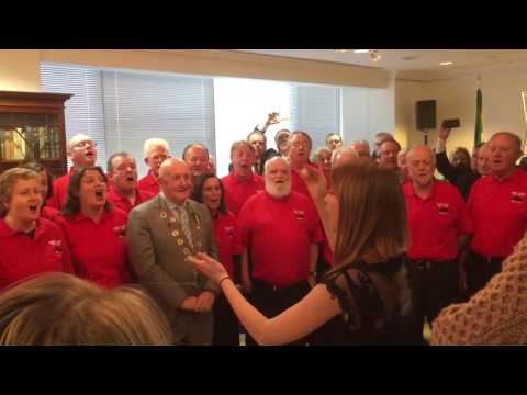 Munster Supporters Club Choir at the Irish Consulate