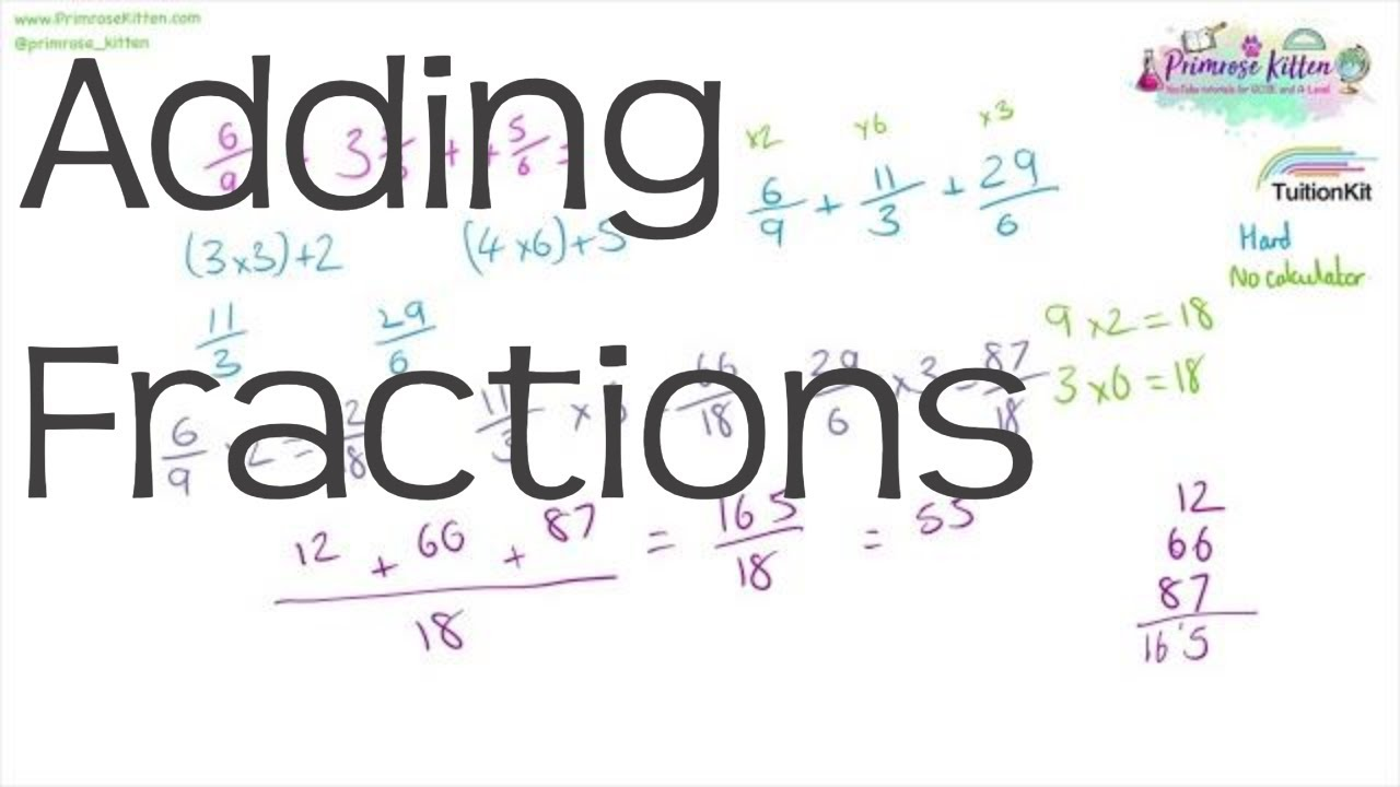 Adding Fractions | Maths GCSE and iGCSE Revision